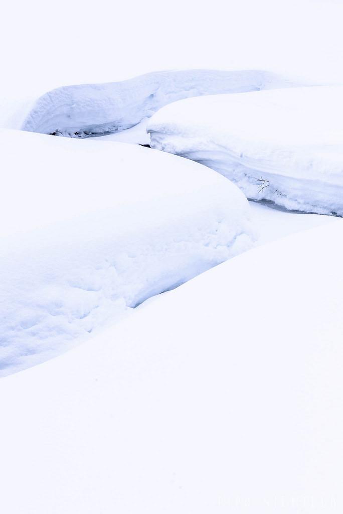 Luminen joenuoma Urho Kekkosen kansallispuistossa