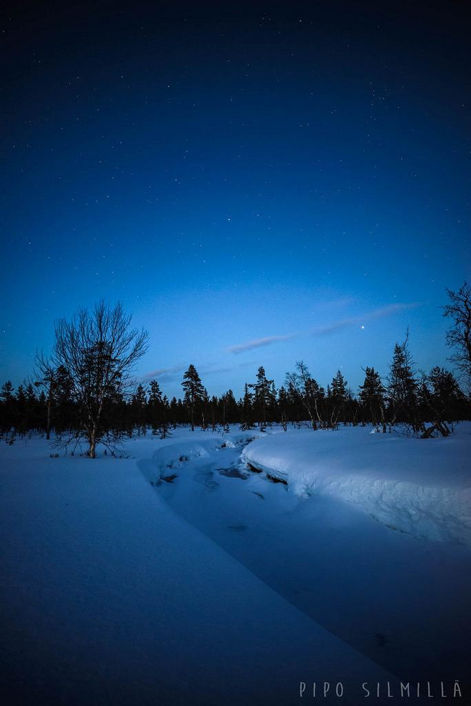 Öinen Suomujoki Urho Kekkosen kansallispuistossa
